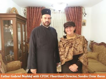 Father Naddaf and Sondra Baras