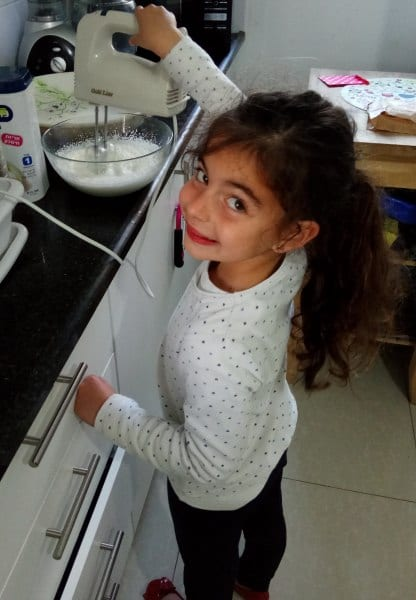 My daughter helps with the baking